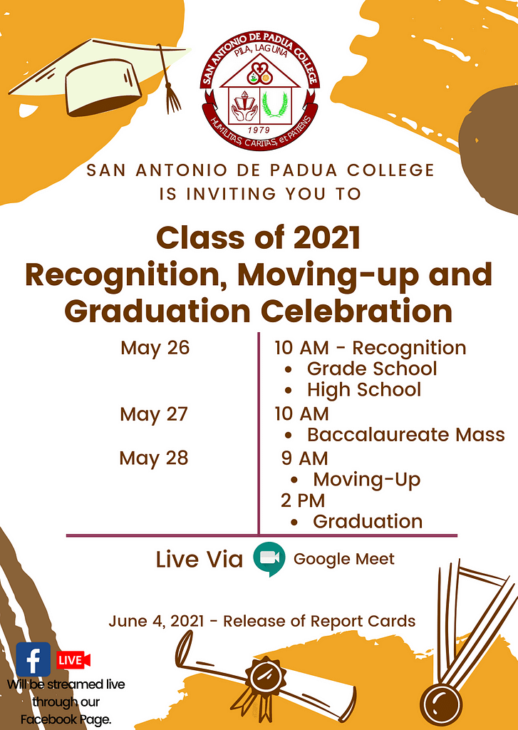 Class of 2021 - Recognition, Moving-up and Graduation Celebration
